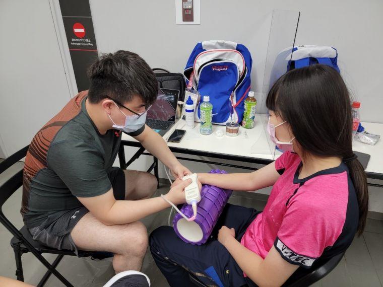 劉又銓醫師擔任我國帕運代表團防疫協調官。體育署提供