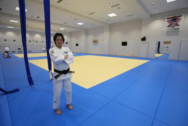 奧運柔道培訓隊連珍羚選手於日本小松職業隊備戰奧運平日訓練情形。體育署提供