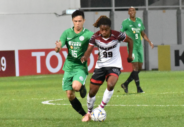 航源FC的海地外援班奇進第1球。航源FC提供