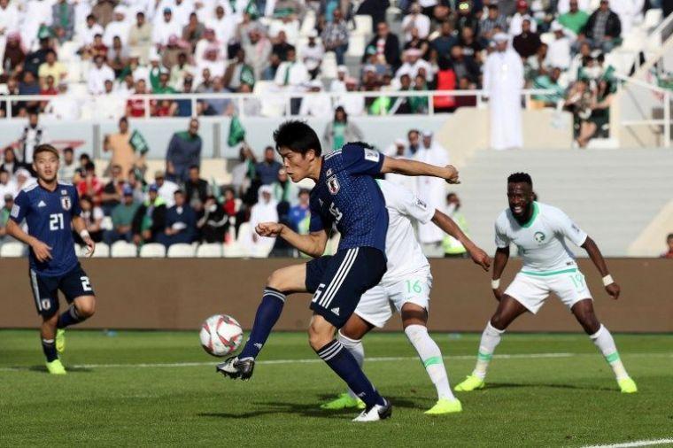 日本連八屆踢進亞洲盃8強。法新社