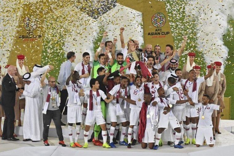 卡達首度稱霸亞洲盃。法新社