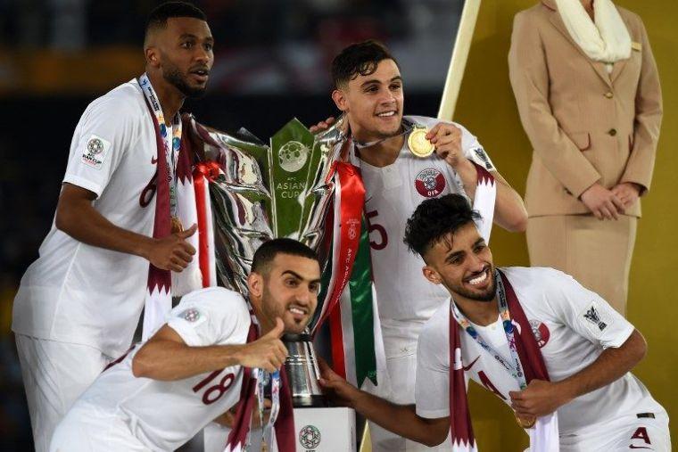 卡達在亞洲盃封王後,世界排名升到世界第55。法新社