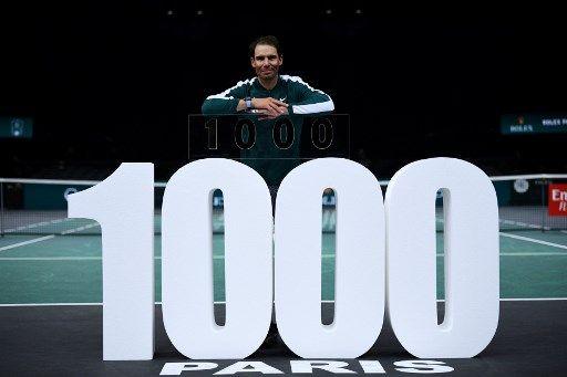 納達爾成公開賽時代以來第4位千勝球員。法新社