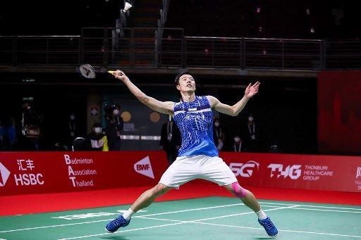 王子維連續兩屆總決賽晉級男單4強。法新社