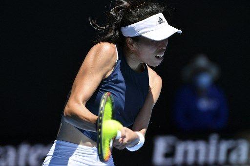 謝淑薇再度挑戰自己的澳網最佳單打紀錄。法新社