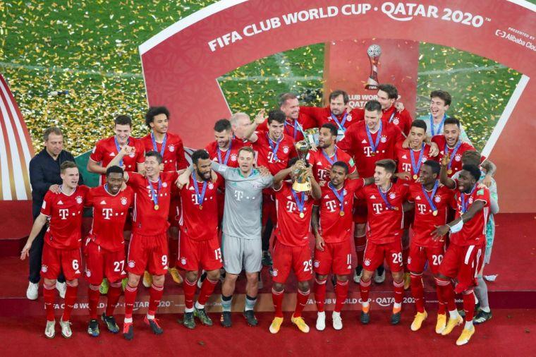拜仁拿下世俱盃冠軍,過去12個月成就6冠王的偉業。(法新社)