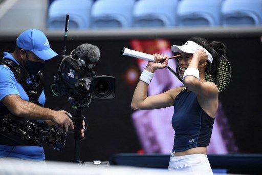 謝淑薇身上沒有任何贊助都要自己去買網球服。法新社