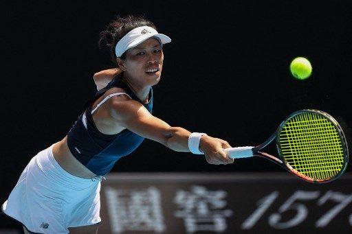 謝淑薇神奇表現在澳網8強止步。法新社