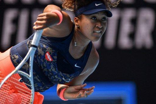大坂直美第二度闖進澳網女單決賽。法新社