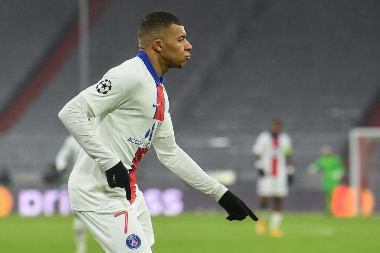 姆巴佩雙響並攻進致勝球,巴黎3-2勝拜仁。(法新社)