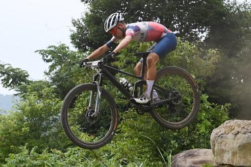 最年輕登山車天才皮卡克制霸東奧。法新社