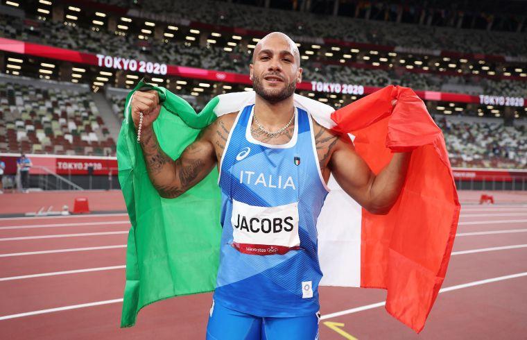 義大利選手雅克布斯爆冷奪下今年東奧男子100公尺金牌。法新社