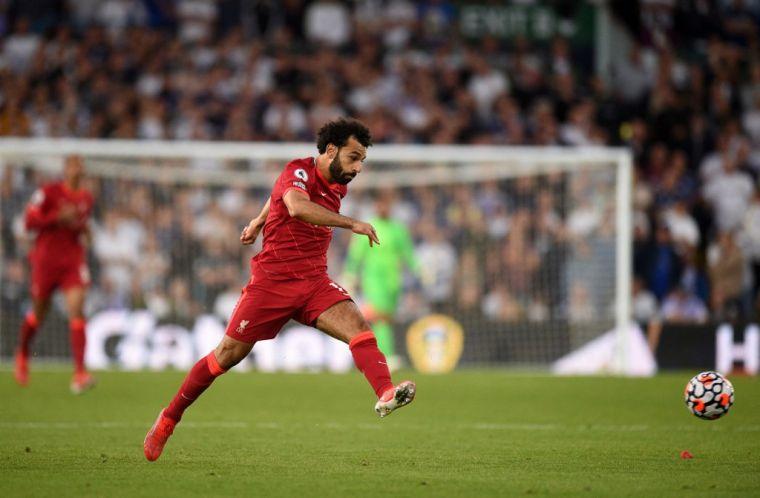 薩沙射進英超生涯第100球,助利物浦開季3勝1平保持不敗。(法新社)