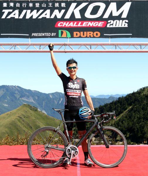 范永奕勇奪2016台灣自行車登山王挑戰國內第一。中華民國自行車騎士協會/提供。