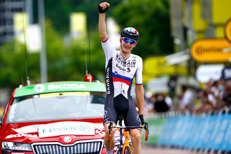 首奪環法賽段冠軍,這是莫霍里奇職業生涯的重要一刻。Bettiniphoto提供