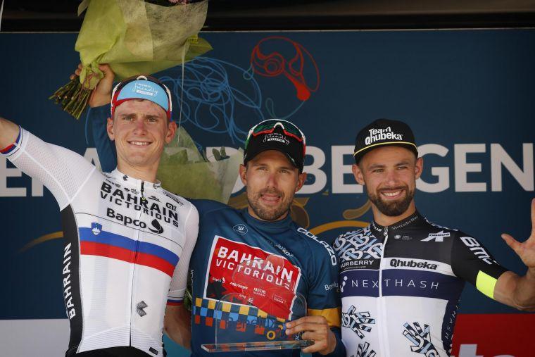 領獎台上的科爾布雷利和莫霍里奇,居本屆環荷比盧總成績的1、2位。Bettiniphoto提供