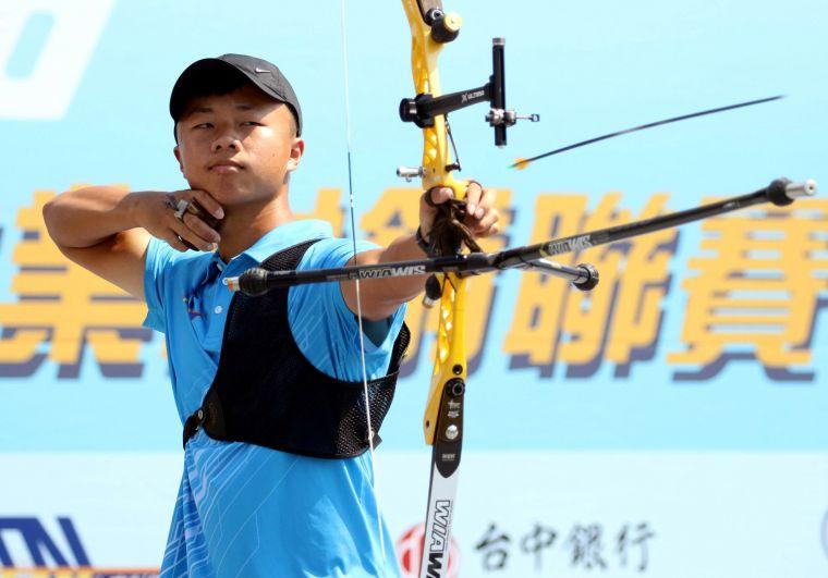 台南隊洪晟皓。中華企業射箭聯盟/提供。