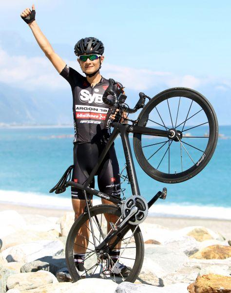 范永奕是台灣登山王的指標性車手。林嘉欣/攝影。