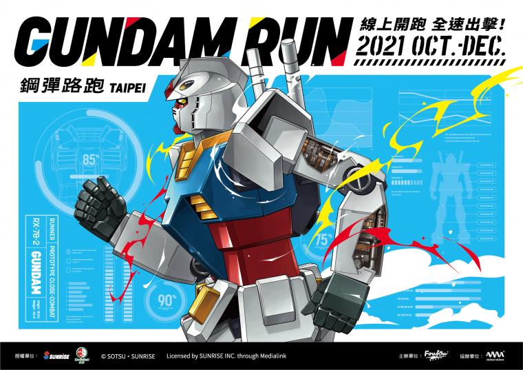 《鋼彈路跑GUNDAM RUN TAIPEI》線上路跑  10月1日就在台灣!。官方提供
