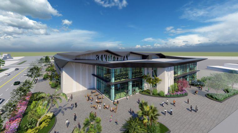 新建的運動中心,總樓地板面積約1萬平方公尺,在國內屬於中大型的運動中心。高雄運發局提供
