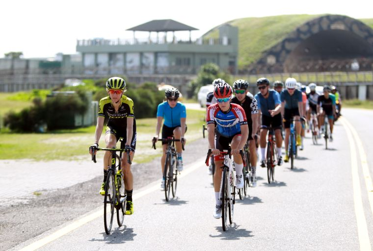 2018臺灣自行車登山王挑戰亮點選手練騎。中華民國自行車騎士協會/提供。