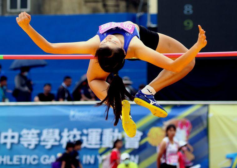 斗南高中姚可微1.69得銅創最佳。林嘉欣/攝影。