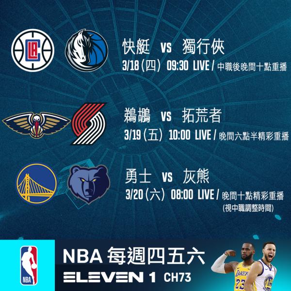 0318_0320 NBA單週賽事。官方提供