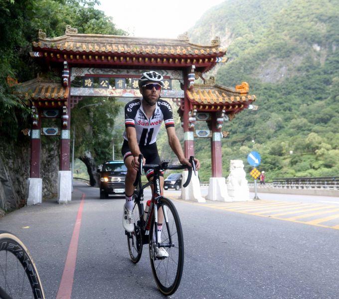 Team sunweb勞倫斯天登。中華民國自行車騎士協會/提供。
