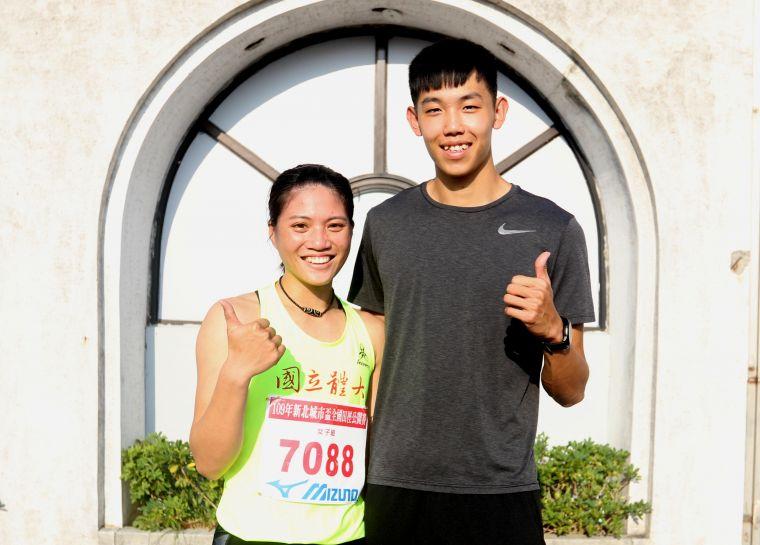 奧運培訓隊彭名揚和女友鄭唐秀。林嘉欣/攝影。