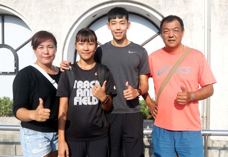彭家班全家都是運動員。林嘉欣/攝影。