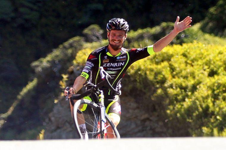 2016登山王西班牙奧斯卡.穆尼奧斯再度來台尬車。中華民國自行車騎士協會/提供。