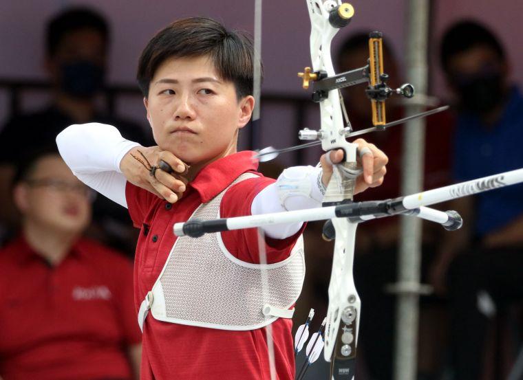 新北凱撒雷千瑩。中華企業射箭聯賽聯盟/提供。官方提共