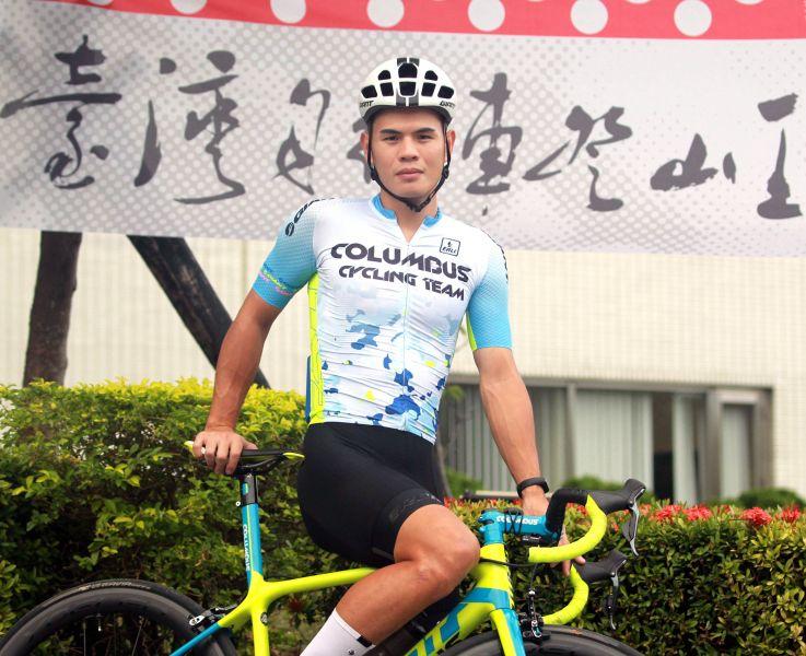 將衛冕2018臺灣自行車登山王挑戰國內第一的彭源堂。中華民國自行車騎士協會/提供。