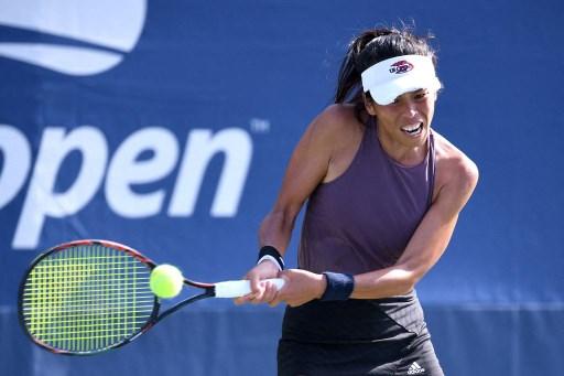 謝淑薇第五度闖進美網女單64強。法新社