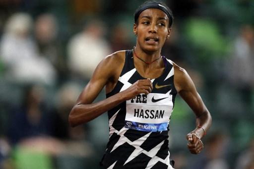 東奧雙金選手哈桑再奪精英賽金牌,但沒破世界紀錄。法新社