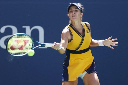 今年東奧金牌本西琪第三度晉美網女單8強。法新社