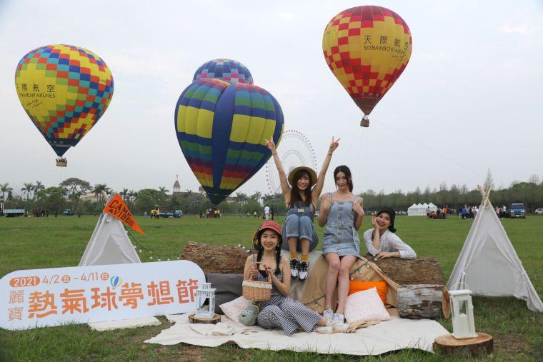 麗寶熱氣球夢想節,4月2日登場,今日試乘美照曝光。官方提供