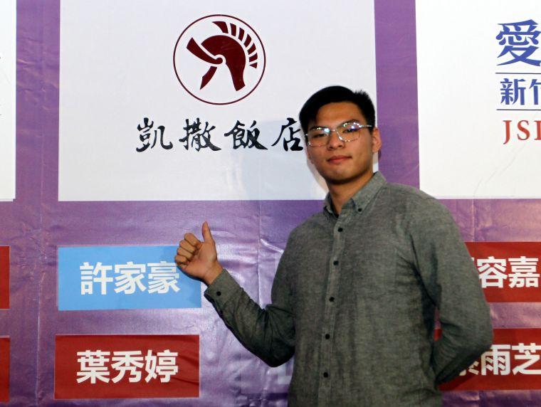 中華企業射箭聯賽3年選秀狀元王許家豪。中華企業射箭聯盟/提供。