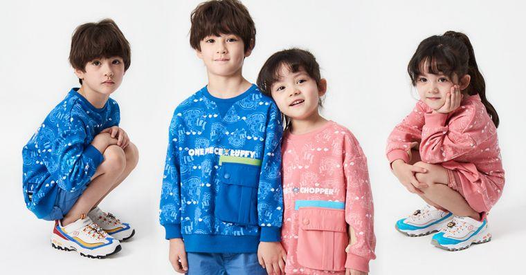 SKECHERS x ONE PIECE KID魯夫&喬巴限定款童鞋及服飾。官方提供