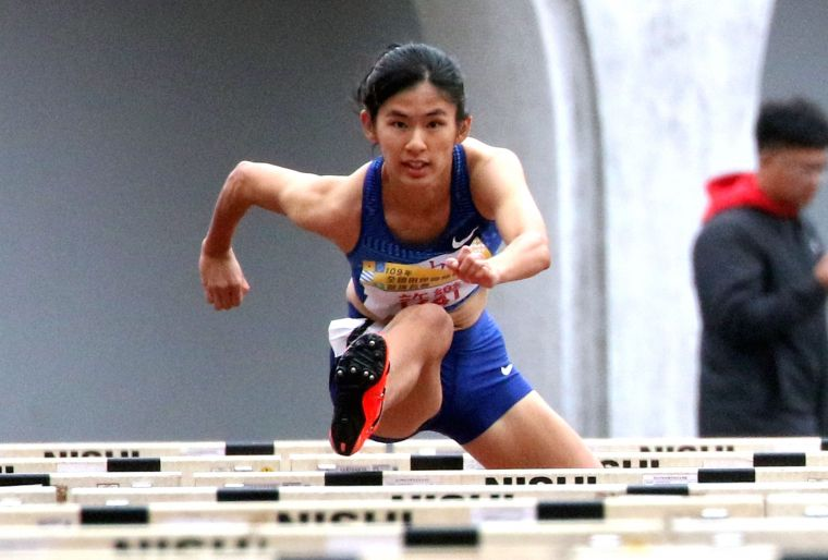 許樂第八度超越世界聽障紀錄,並以13秒19躍居歷年第三傑,優於上屆亞運金牌13秒20。林嘉欣/攝影。