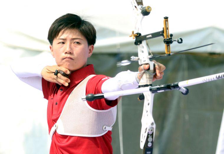 新北凱撒雷千瑩。中華企業射箭聯盟/提供。