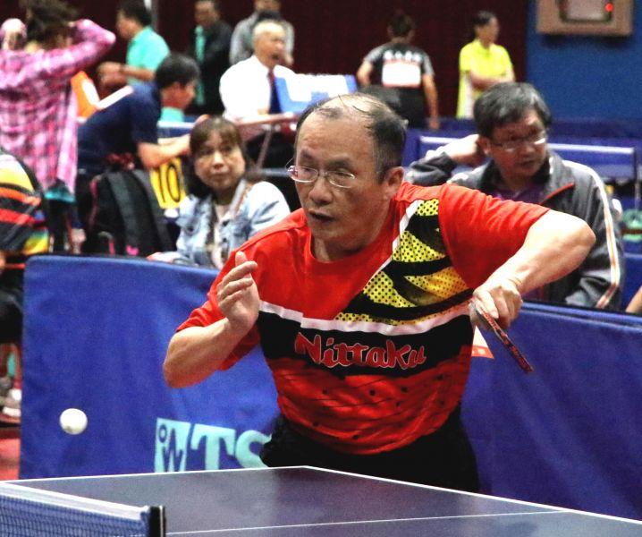 全國樂活盃桌球錦標賽倡導全民運動風氣強化運動意識。 高雄市政府運動發展局提供