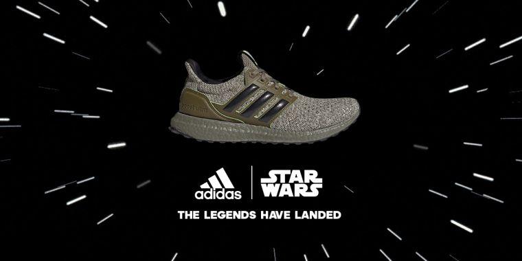 適逢星際大戰五部曲上映40週年紀念,adidas推出 Ultraboost DNA Star Wars Yoda聯名跑鞋,採用標誌性橄欖綠色系貫穿鞋身,充分向尤達大師致敬。官方提供