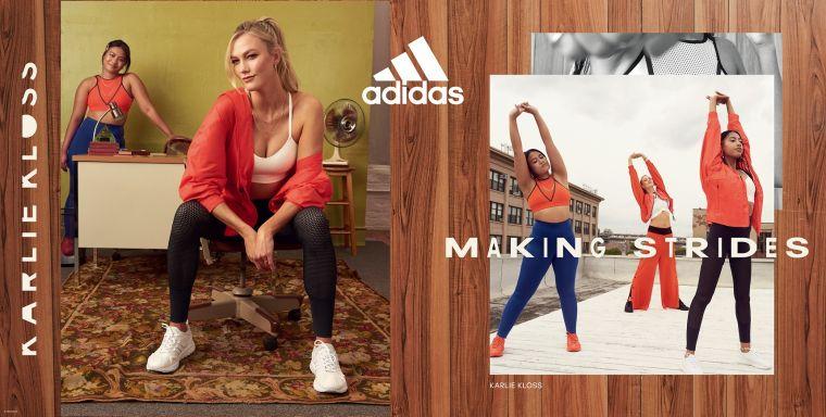 adidas與斜槓超模Karlie Kloss共同打造adidas x Karlie Kloss 2021春季聯名系列,鼓勵年輕女性踏出舒適圈、大步探索未知領域。官方提供