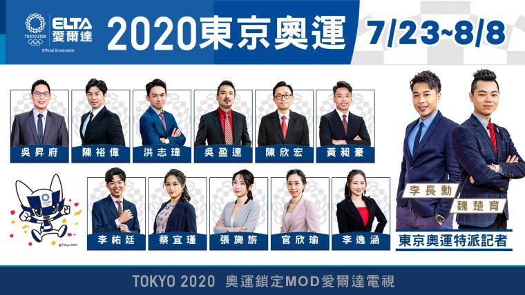 2020東京奧運正式開戰 ,愛爾達優質團隊最完整轉播。官方提供