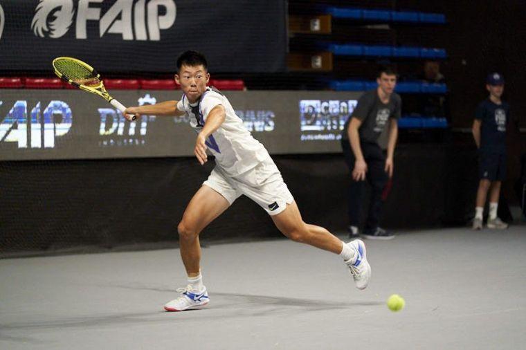 曾俊欣也是台灣未來網球備受期待的球星。資料照片