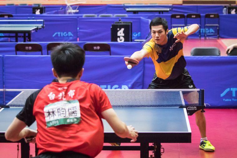 楊子儀上屆全運會在男單決賽以0比4輸給林昀儒,獲得第2名。大會提供