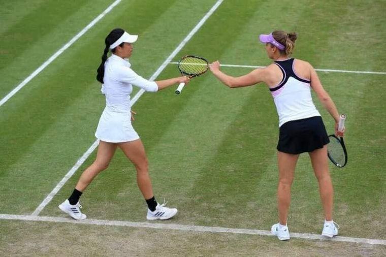 謝淑薇第三度闖進溫網女雙決賽。資料照片
