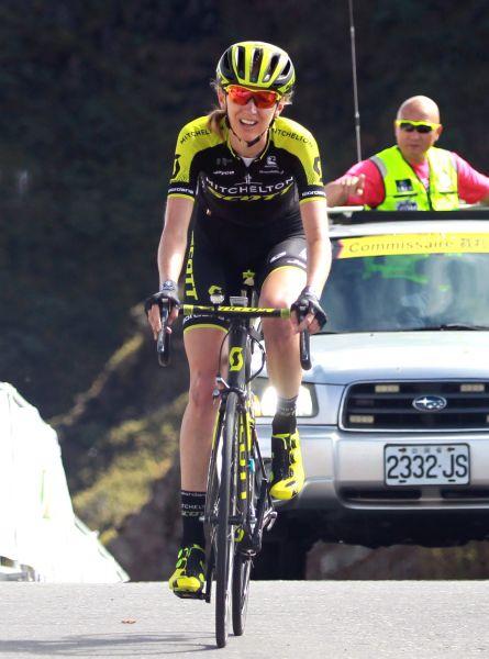 2018臺灣自行車登山王挑戰女子組冠軍露西甘迺迪。中華民國自行車騎士協會/提供。