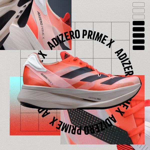 adidas結合品牌三大尖端科技,推出史上最厚50mm碳纖輕量長跑鞋款adizero Prime X,邀請菁英跑者超越規則、挑戰極限。官方提供